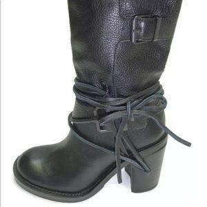 Vince Camuto Skylas Women Leather Black boots Sz 8